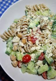 jo and sue greek pasta salad with creamy feta dressing