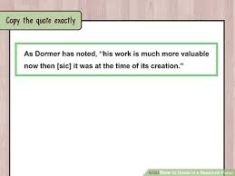 how to quote in a research paper with exles wikihow