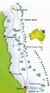 Great Barrier Reef Map Ribbon Reefs Lizard Island Qld Live Aboard Scuba Diving
