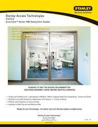 dura care series 7400 swing door system stanley access