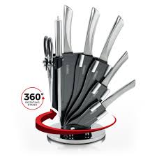 tower 7 piece knife set w stand s steel tower from tower uk