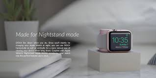 Minimalist Alarm Clock by Dock For Apple Watch Weighted Charging Dock With Rotating Arm