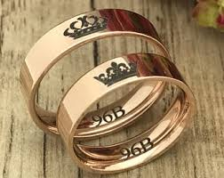 king and crown wedding rings king and ring etsy