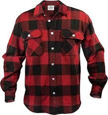 Flannel Shirts Heavyweight Brawny Flannel Shirt Black