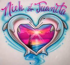 airbrushed unicorns dolphins butterfly custom shirts airbrush