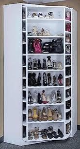 Shoe Closet With Doors Lazy Rotating Shoe Rack