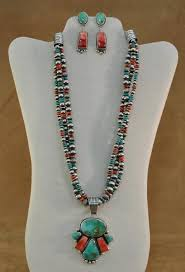 indian jewelry necklace sets images Navajo beaded royston turquoise and spiny necklace set mac 39 s jpg