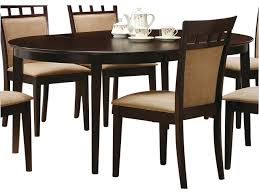 Cappuccino Dining Room Furniture Round To Oval Dining Table