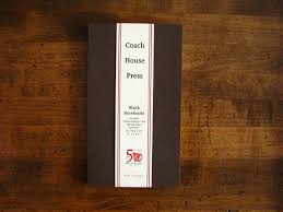 coach house press brown softcover blank laid paper notebook