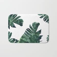 Palm Tree Bathroom Rugs by Bath Mats Society6