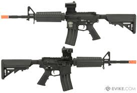 g u0026p ar 15 m4 carbine airsoft aeg rifle with billet style receiver