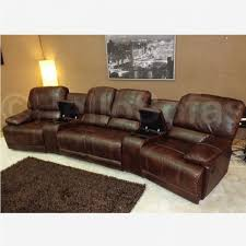 Curved Sectional Sofa With Recliner Wonderful Stylish Brown Leather Recliner Sofa Reclining With