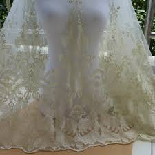tulle by the yard chagne gold fabric embroidered tulle lace fabric