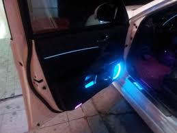 Car Interior Blue Lights 3m Ice Blue Wire Car Interior Decor Fluorescent Neon Strip Cold
