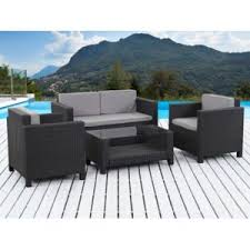 canapé de jardin en résine tressée stunning salon de jardin noir resine tressee ideas amazing house
