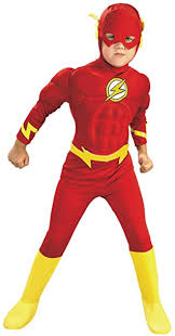 Halloween Costume Toddler Amazon Rubies Dc Comics Deluxe Muscle Chest Flash Costume