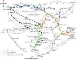 Hiking Maps Mt Huangshan Travel Maps Yellow Mountain Hiking Map