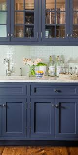furniture blue kitchen cabinets and wooden floor for transitional
