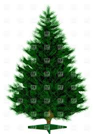 empty christmas tree isolated on white background vector clipart