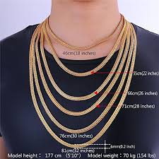 men necklace lengths images Marosia mart u7 men chain 18k stamp fashion jewelry foxtail jpg