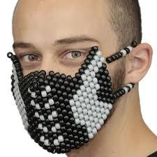 kandi mask captain america kandi mask on handmade one bead at a