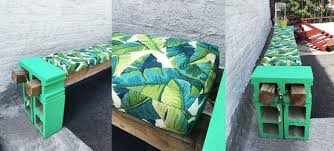 Bench Cushions For Outdoor Furniture by Cement Block Bench And Bench Cushions Hometalk