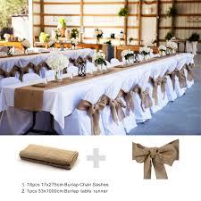 table sashes burlap table runner burlap chair sashes cover jute tie bow burlap