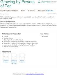 lesson plans for fifth grade math education com