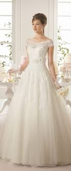2015 wedding dresses modest tulle bateau neckline a line wedding dress with lace