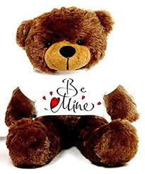 be mine teddy buy brown 2 big teddy wearing be mine t shirt online at