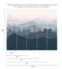 Wallpaper For Walls Teal And Pink Mountain Mural Wall Art Wallpaper Peel And Stick