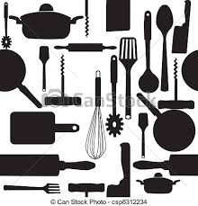 pattern clip art images vector seamless pattern of kitchen tools eps vector search clip