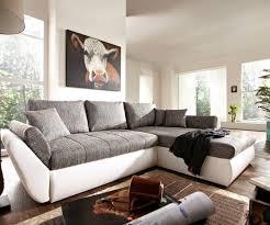 sofa grau weiãÿ ecksofa loana 275x185 weiss grau schlaffunktion variabel möbel