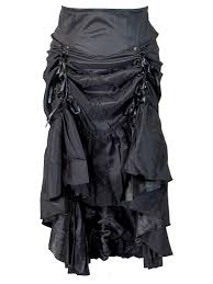 4x Plus Size Clothing Plus Size Black Gothic Steampunk Burlesque 3 Way Lace Up Skirt At