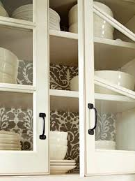 alternatives to glass front cabinets creative uses of wallpaper in any room wallpaper glass cabinet