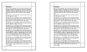 a4 vs us letter between borders