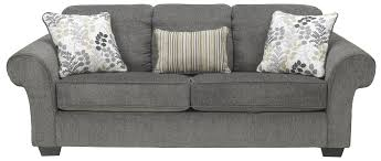queen sofa sleeper with large rolled arms and 2 seat cushions by