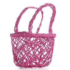 pink favor bags hot pink paper twist basket gift bags favor bags party
