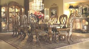 Michael Amini Dining Room Set Aico Venetian Honey Walnut Dining Room Group Aico Venitian