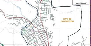 Map Of Virginia Cities Street Map Covington City