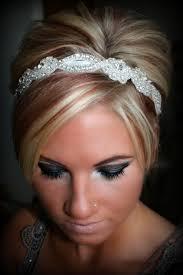 wedding hair with headband sweetheart bridal rhinestone headband wedding bridal hair