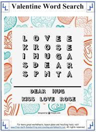 valentine word search printable puzzles