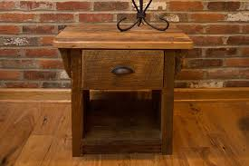 reclaimed wood reclaimed wood end table with drawer port tobacco md custom