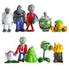 7 styles 10pcs lot pvz plants vs zombies figures toys 3 8cm