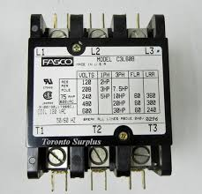 fasco c3l60b magnetic contactor definite purpose 3 pole 120 vac