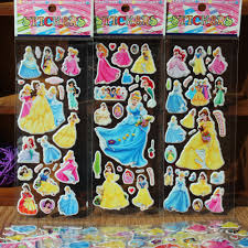 online get cheap princess wall stickers aliexpress com alibaba 10 sheets lot 3d cartoon princess snow white wall stickers kids toys bubble stickers