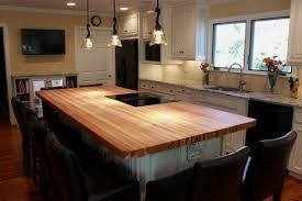 kitchen island with wood top wood top kitchen island kitchen traditional with breakfast bar
