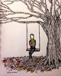 sketch of a reading on a tree swing u2013 the quantum thought