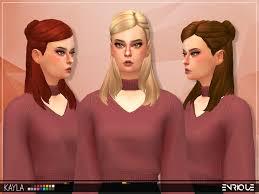 sims 4 maxis match cc hair sims 4 maxis match cc enriques4 enrique kayla hair works with