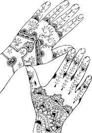 Coloriage Adulte main indienne à imprimer sur COLORIAGES info
